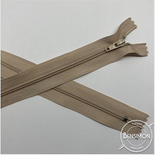 Fermetures nylon 3mm non séparables - Taupe 20 à 60cm