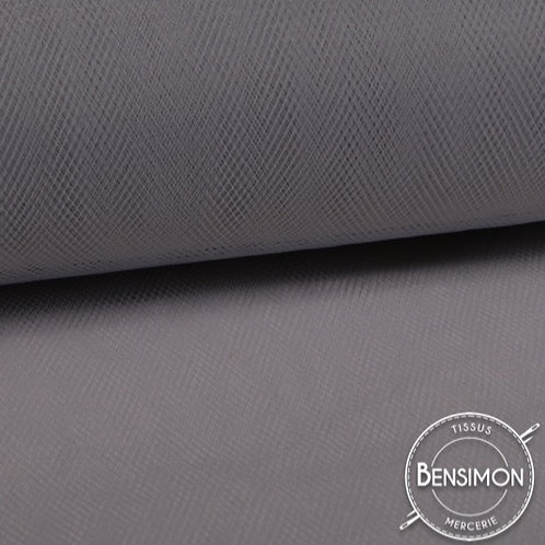 Tissu Tulle souple grande largeur - Gris Foncé X 1M