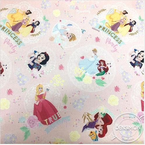 Tissu coton imprimés - Disney licence Princesses X 50cm