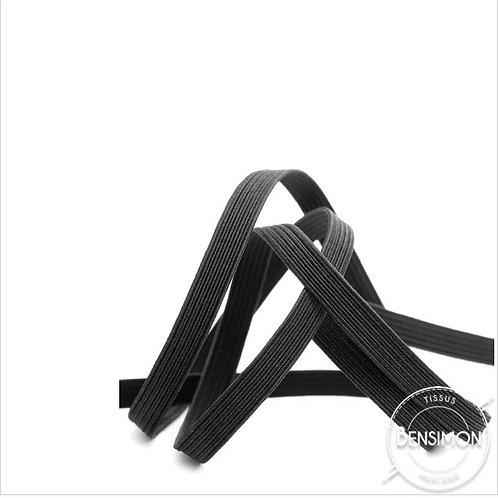 élastique tresse plat ceinture noir blanc petit prix