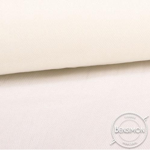 Tissu Tulle souple grande largeur - Ivoire X 1M