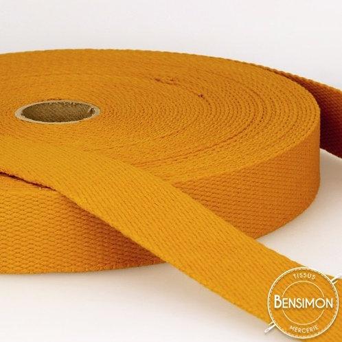 Sangle sac 100% coton 30mm moutarde