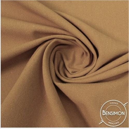 Tissu natté toile lourde - Nude X 50cm