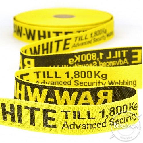 Galon style Off White 25mm jaune