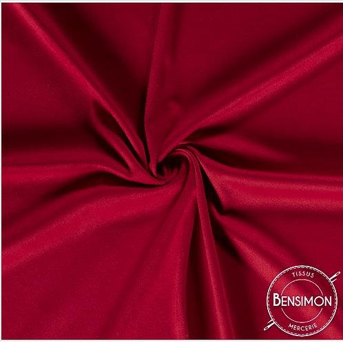 Tissu Suédine épaisse unie - Rouge X 50cm