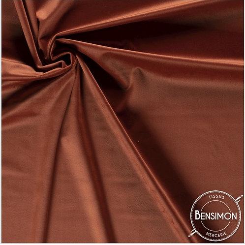 Tissu Velours ras - Terracotta X 50cm
