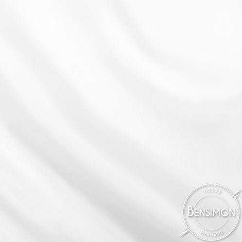 Tissu doublure satin - Blanc X 50cm