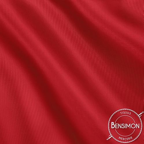 Tissu doublure satin - Rouge X 50cm