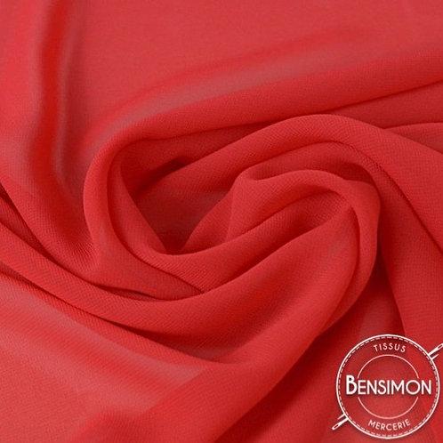 Tissu Mousseline - Rouge X 50cm