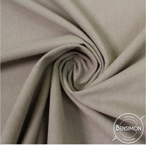 Tissu natté toile lourde - Gris souris X 50cm