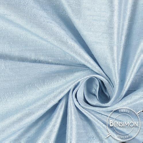 Tissu satin taffetas - Bleu ciel X 50cm