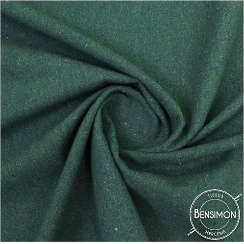 Tissu natté toile lourde - Vert sapin X 50cm