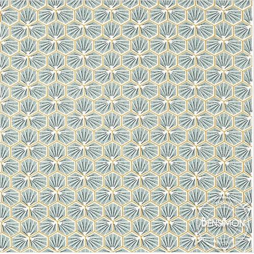 Tissu coton imprimés - Riad Céladon X 50cm