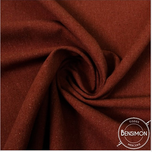 Tissu natté toile lourde - Rouge X 50cm
