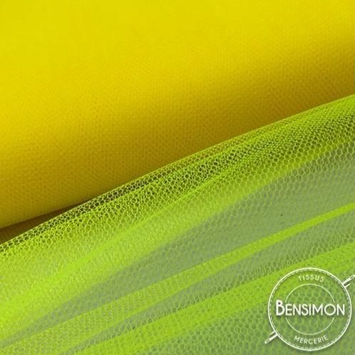 Tulle jaune citron tutu raide grande largeur mariage