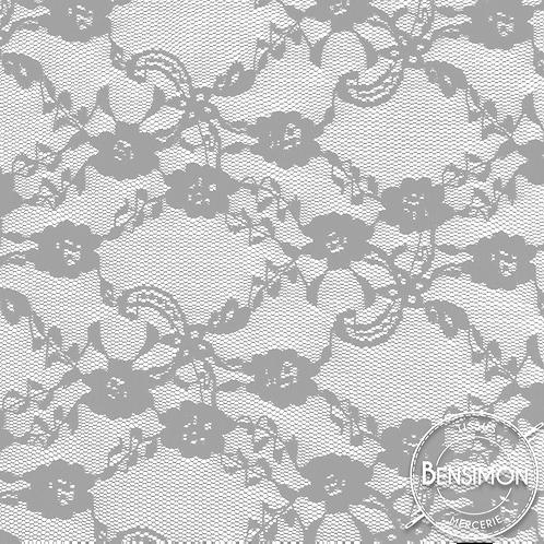 Dentelle Nina à fleurs - Gris X50cm