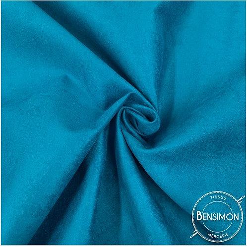 Tissu Suédine épaisse unie - Turquoise X 50cm