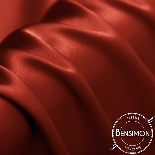 Tissu satin premium - Rouge Amarante X 50cm
