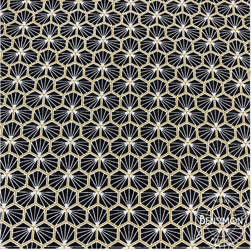 Tissu coton imprimés - Riad noir X 50cm