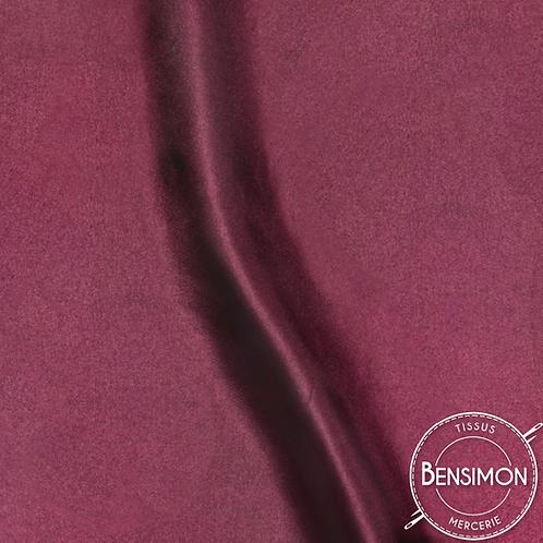 Tissu satin uni léger - Bordeaux X 50cm