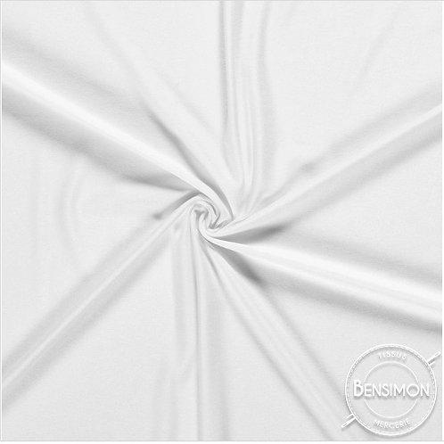 Tissu Jersey coton haut de gamme - Blanc X 50cm