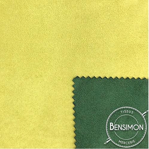 Tissu Suédine épaisse bicolore - Pomme & Sapin X 50cm