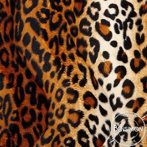 Tissu effet peau de bête - Léopard X 50cm