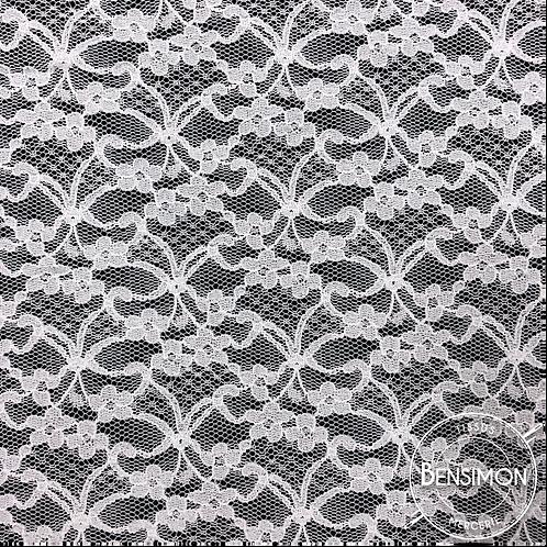 Dentelle résille 1.000 fleurs - Blanc X 50cm