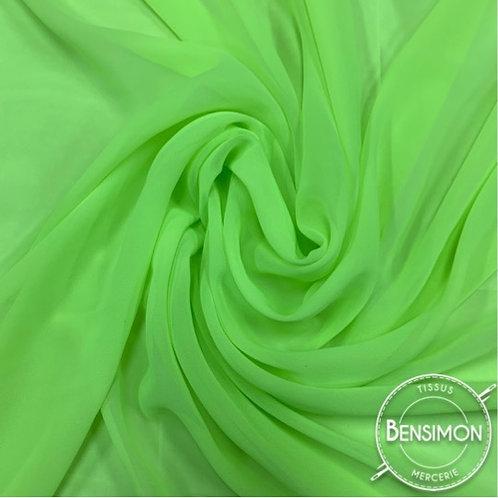 Tissu Mousseline - Vert fluo X 50cm