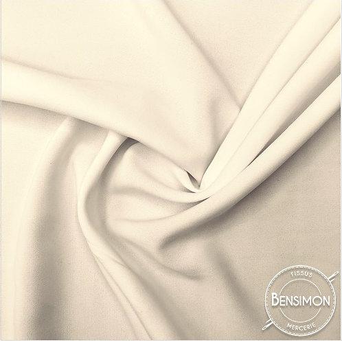 Tissu Crêpe - Écru vanille X 50cm