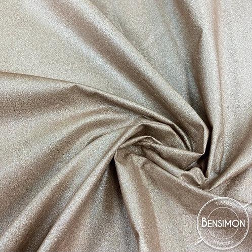 Tissu coton enduit métallisé doré