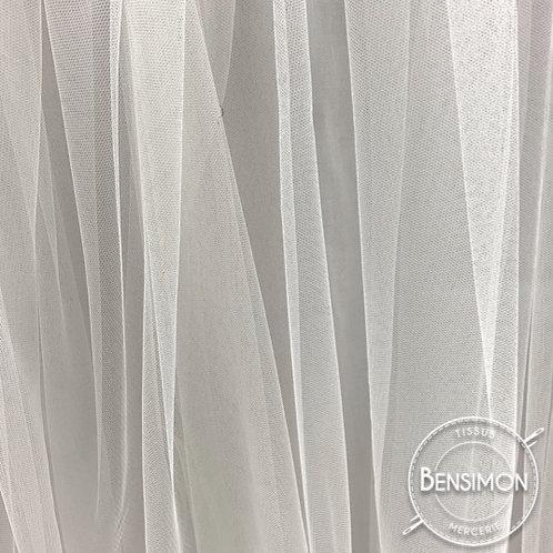 Tissu Tulle souple Morbido - Blanc Naturel X 1M