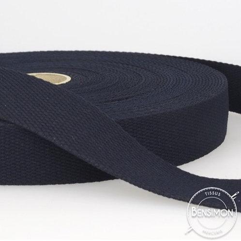 Sangle sac 100% coton 30mm marine