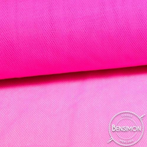 Tissu Tulle souple grande largeur - Fuchsia Cherry X 1M