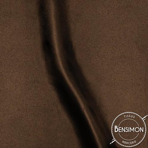 Tissu satin uni léger - Marron X 50cm