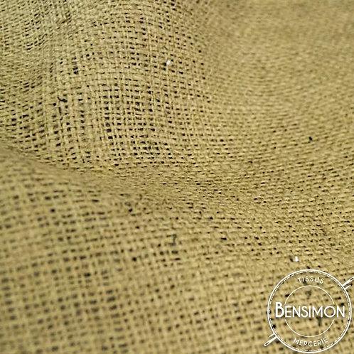 Tissu toile de Jute - Sac à patates rayures bordures X 50cm