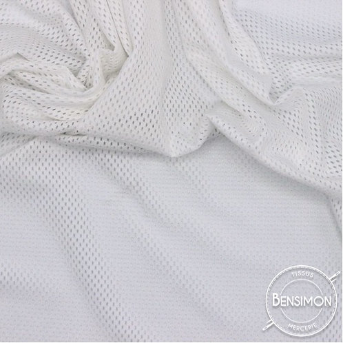 Tissu Filet Mesh Résille Sport blanc