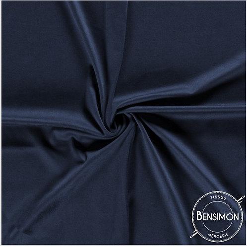 Tissu Suédine épaisse unie - Bleu foncé X 50cm