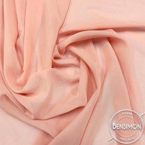 Tissu Mousseline - Saumon X 50cm