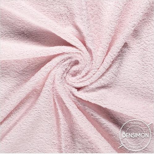 Tissu éponge coton OekoTex - Rose Layette X 50cm