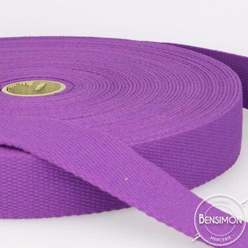 Sangle 100% coton 30mm violet