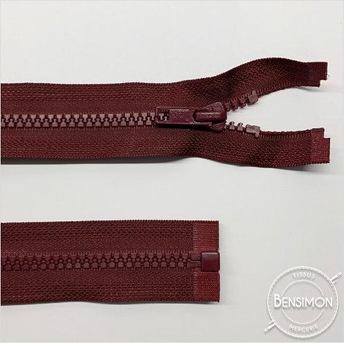 Fermeture injectée 5mm séparable - Bordeaux