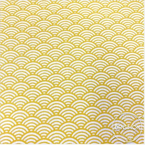 Tissu coton imprimés - Sushi jaune X 50cm