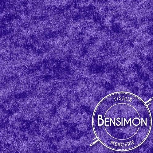 Tissu Panne de Velours - Violet X 50cm