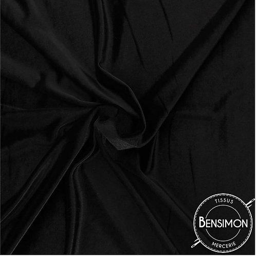 Tissu Velours Stretch - Noir X 50cm