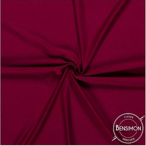 Tissu Jersey coton haut de gamme - Bordeaux X 50cm