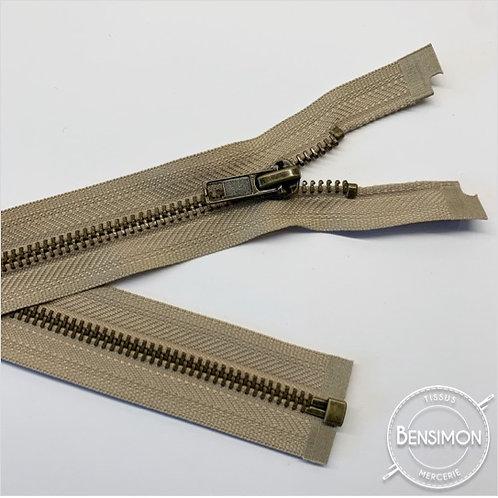 Fermeture métal 5mm séparable - Beige