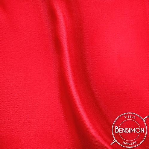 Tissu satin uni léger - Rouge X 50cm