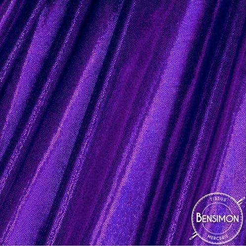 Tissu extensible Lycra stretch lamé brillant pailleté justaucorps académique violet