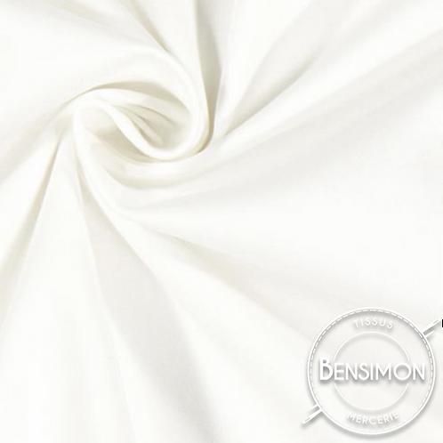 Tissu satin duchesse - Blanc Naturel X 50cm